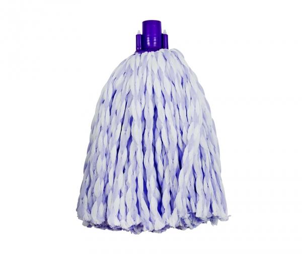 Mop microfibra bicolor (alb violet) fir gros