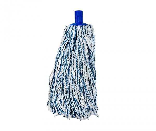 Mop microfibra&bumbac 175 g, albastru