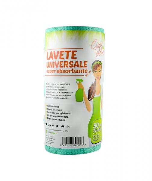 Lavete universale superabsorbante, 50 buc pe rola, Ciao Bella, verde