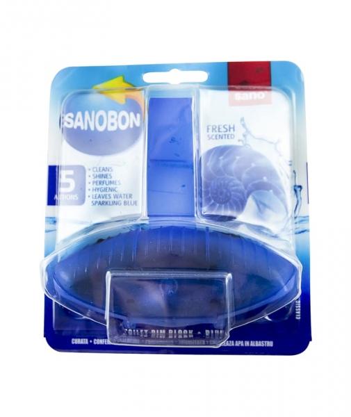 Odorizant solid pentru vasul toaletei, Sano Bon Blue, 55g