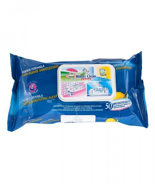 Servetele igienizante pentru suprafete Mister Clean, 50 Buc