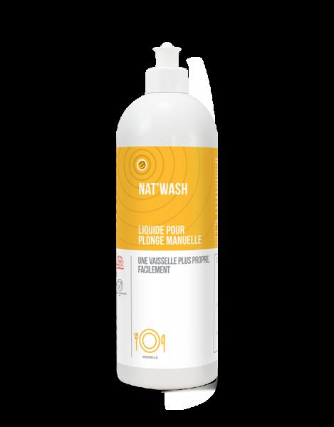 Detergent lichid pentru spalare manuala, NAT'WASH - CERTIFICAT ECOCERT, 750 ml