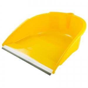 Faras cu lamela de cauciuc si maner inalt, galben