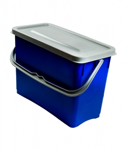 Galeata cu capac etans 8 L, albastru