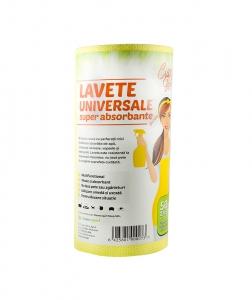 Lavete universale superabsorbante, 50 buc pe rola, Ciao Bella, galben