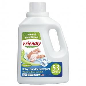 Detergent Rufe Bebe – Fara Miros Friendly Organic, 1567 ml, 53 spalari