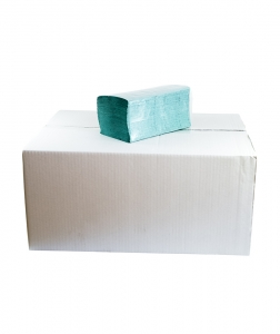 Prosoape pliate V verzi, 200 buc/pach, 20 pach/bax