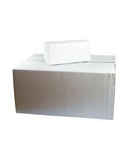Prosoape pliate albe in V, 210 buc, 15 pach/bax