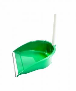Faras cu lamela de cauciuc si maner inalt, verde