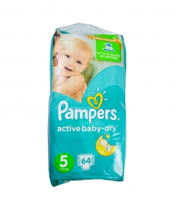 Pampers 5 Active Baby Dry, scutece, 64 buc/pach