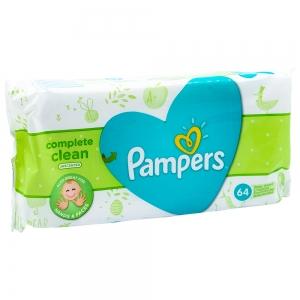 Servetelele umede Pampers Complete Clean, fara parfum, 64 buc