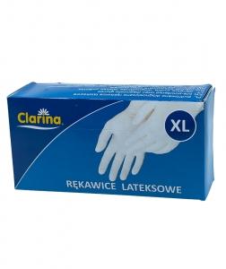 Manusi examinare latex pudrate Clarina, XL, 100 buc/set