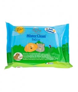 Servetele umede pentru animale, Talc, Mister Clean, 20 Buc