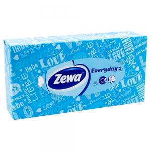 Batiste faciale Zewa Everyday 2, albastru, 100 buc/set, 2 straturi