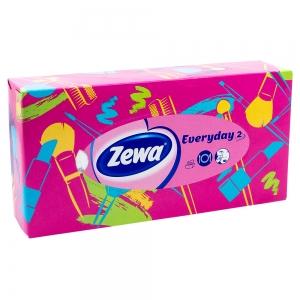 Batiste faciale Zewa Everyday 2, roz, 100 buc/set, 2 straturi