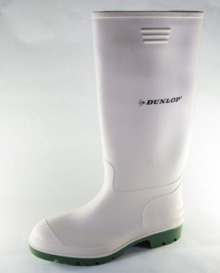 Cizme Dunlop, albe, industria alimentara, talpa nitril, flexibila, captuseala detasabila