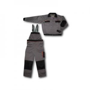 Costum salopeta tercot 65%PE+35%BBC, jacheta +pantaloni pieptar