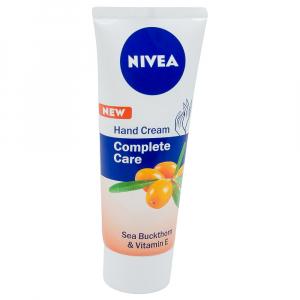 Crema de maini, Nivea, Complete Care cu extract de Catina si vitamina E, 75 ml