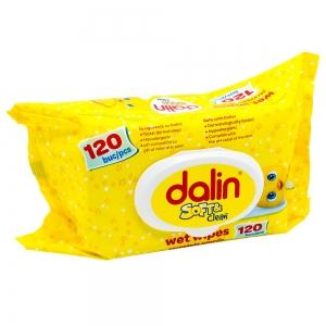 Dalin Servetele umede cu capac 120 buc/set, Soft & Clean