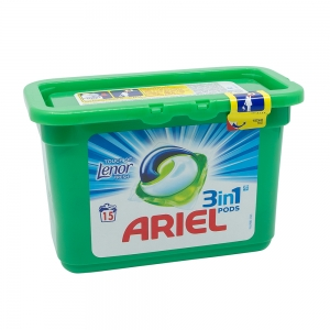 Detergent capsule Ariel 3in1 Pods Touch of Lenor Fresh, 15 spalari