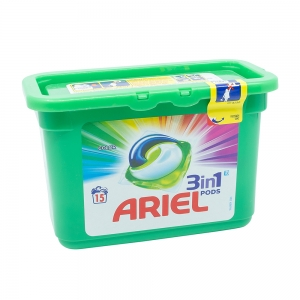 Detergent capsule Ariel 3in1 Pods Color, 15 spalari