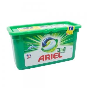 Detergent capsule Ariel 3in1 Pods Mountain Spring, 39 spalari