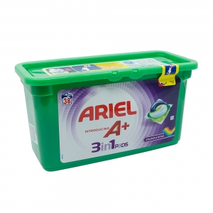 Detergent capsule Ariel A+ 3in1 Pods Colour & Style, 38 spalari