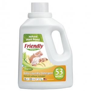 Detergent Rufe Automat Bebe Magnolie Friendly Organic, 1567 ml, 53 spalari