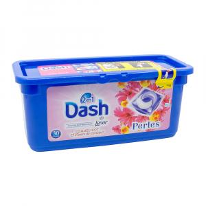 Detergent rufe capsule Dash 2 in 1, Flori de cires, 30 spalari