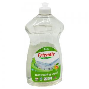 Detergent Vase si Biberoane cu Esență Naturală de Pere Friendly Organic, 739ml