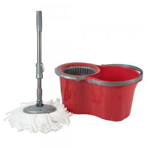 Galeata cu mop rotativ, Original Mini, rosie, 14 L