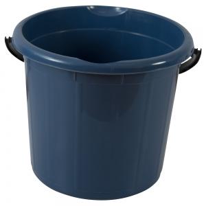 Galeata rotunda fara capac, 10l, albastra