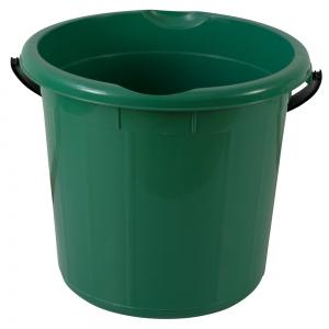 Galeata rotunda fara capac, 15l, verde