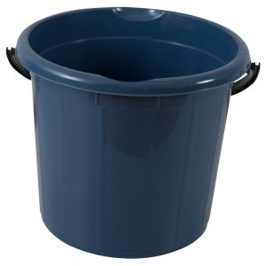 Galeata rotunda fara capac, 15l, albastra