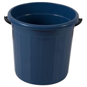 Galeata rotunda fara capac, 5l, albastra