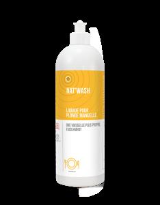 Detergent lichid pentru spalare manuala, NAT'WASH ZEST - CERTIFICAT ECOCERT, 750 ml