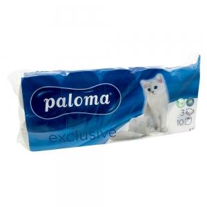 Hartie igienica Paloma Exclusive, 3 straturi, 10 role