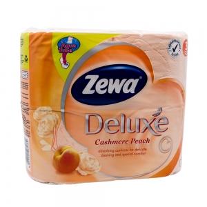 Hartie igienica Zewa Deluxe Cashmere Peach, 3 straturi, 4 role