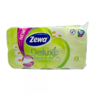 Hartie igienica Zewa Deluxe Camomile Comfort, 3 straturi, 8 role