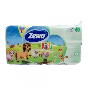 Hartie igienica Zewa Kids, 3 straturi, 8 role