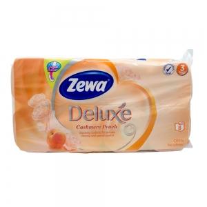 Hartie igienica Zewa Deluxe Cashmere Peach, 3 straturi, 8 role