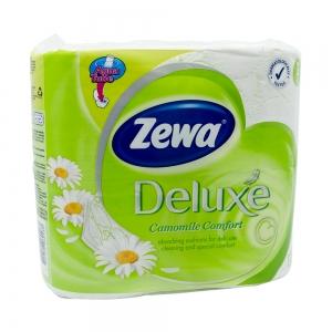 Hartie igienica Zewa Deluxe Camomile Comfort, 3 straturi, 4 role