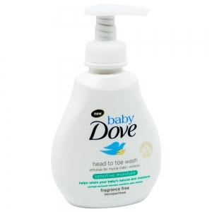 Lotiune spalare pentru par si piele sensibila Dove Baby Sensitive Moisture, 200 ml