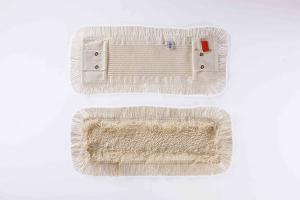 Mop plat bumbac + microfibra, cu urechi si buzunare,40 cm