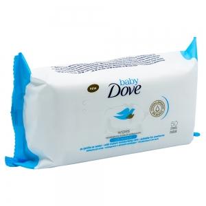 Servetele umede bebelusi Dove Baby Sensitive, Rich Moisture, 50 buc