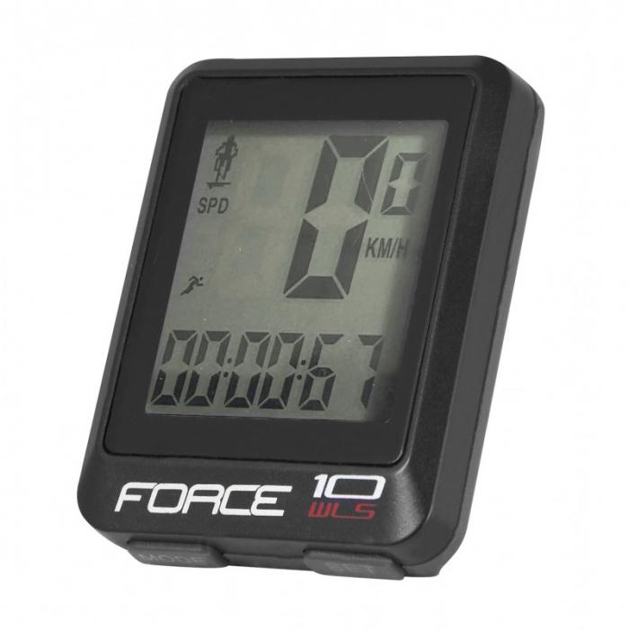 Ciclocomputer Force WLS 10F fara fir negru