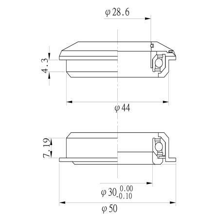 Cuvete semi integrate Tange aluminiu