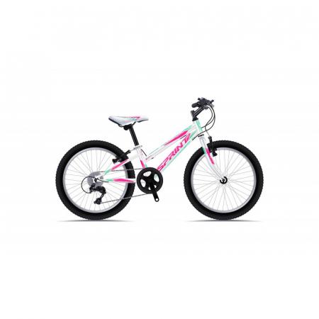 Bicicleta Sprint Calypso 20 Alb Lucios