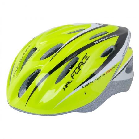 Casca bicicleta Force fluo