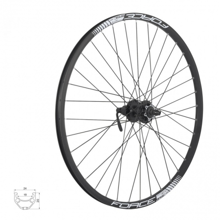 Roata 27.5 Force Basic Disc 584x19 neagra